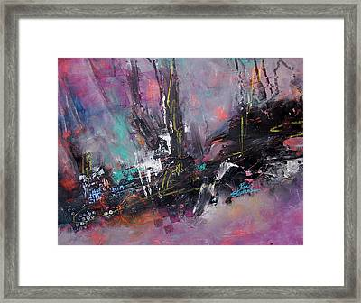 Woods Abstract Framed Print by Ron Stephens