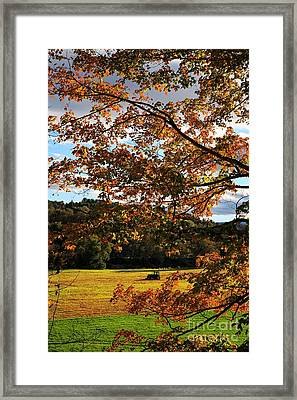 Woodstock Vermont Framed Print by Edward Fielding
