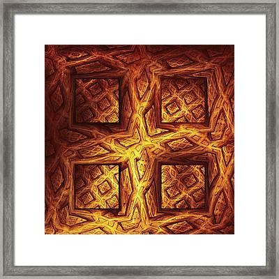Woodwork Framed Print by Anastasiya Malakhova