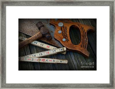 Woodworker - Measure Twice Cut Once Framed Print by Paul Ward