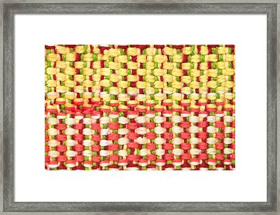 Wool Pattern Framed Print by Tom Gowanlock