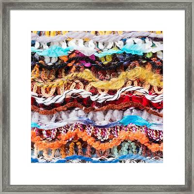 Wool Threads Framed Print by Tom Gowanlock