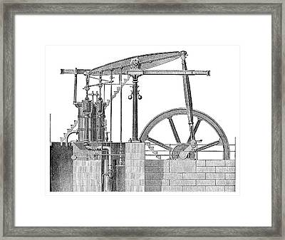 Woolf Steam Engine Framed Print by Science Photo Library