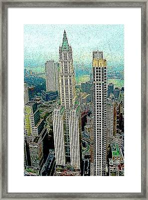 Woolworth Building New York City 20130427 Framed Print by Wingsdomain Art and Photography
