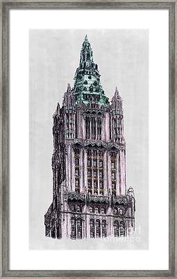 Woolworth Building New York City Framed Print by Gerald Blaikie
