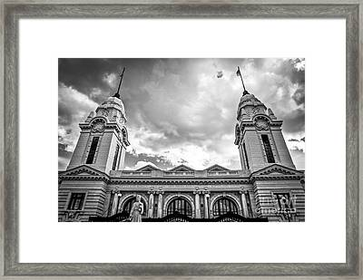 Worcester Union Station Framed Print by Diane Diederich