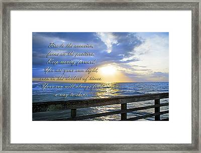 Words To Live By Framed Print by Betsy C Knapp