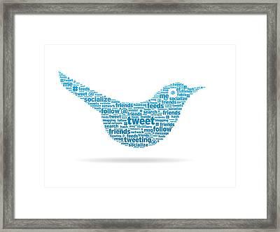 Words - Tweet Framed Print by Aged Pixel