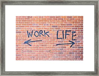 Work And Life Framed Print by Tom Gowanlock