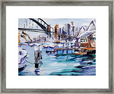 Work And Play Framed Print by Shirley  Peters