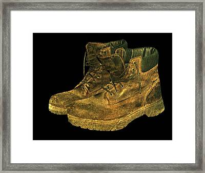 Work Boots Framed Print by Diana Angstadt