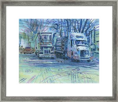 Work Buddies Framed Print by Donald Maier