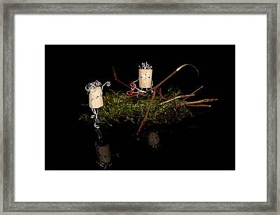 Marriage Proposal Framed Print featuring the photograph Work by Heike Hultsch