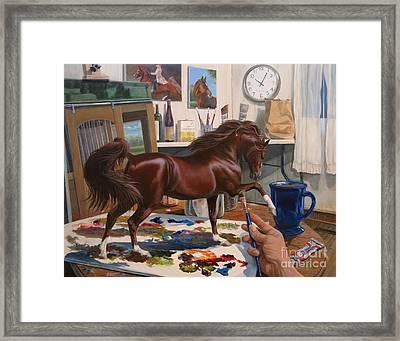 Work In Progress Six Framed Print by Jeanne Newton Schoborg