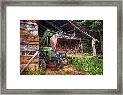 Workhorse Framed Print by Debra and Dave Vanderlaan