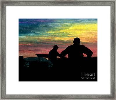 Workin' Till Dark Framed Print by R Kyllo