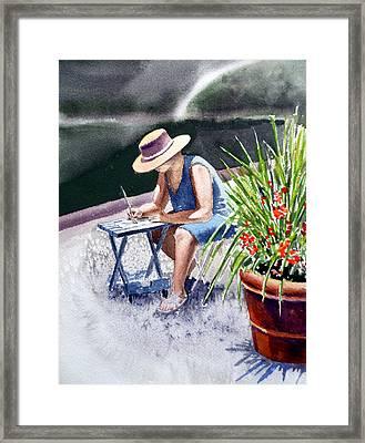 Working Artist Framed Print by Irina Sztukowski