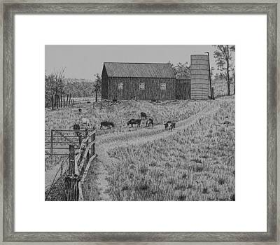 Working Farm Framed Print by Christine Brunette