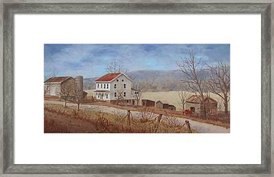 Working Farm Framed Print by Tony Caviston
