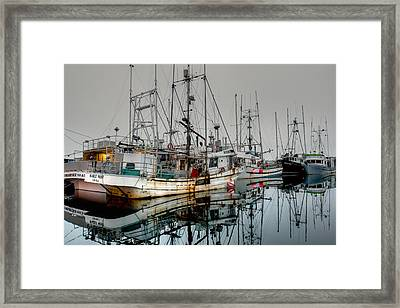 Working Fleet... At Rest Framed Print by Randy Hall