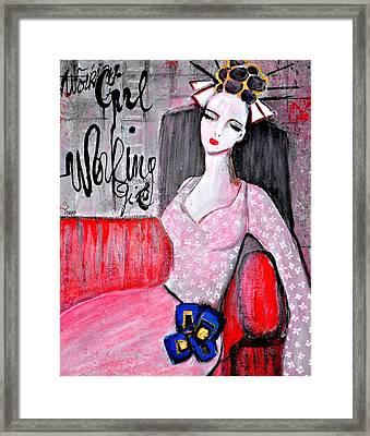 Working Girl Framed Print by Mirko Gallery