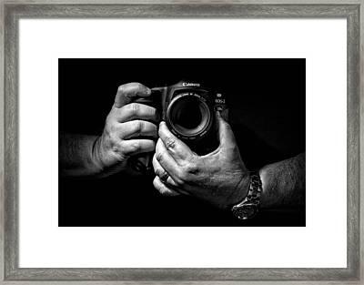 Working Hands Framed Print by Jeff Burton