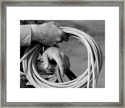 Working Man's Hands Framed Print by Carla Froshaug