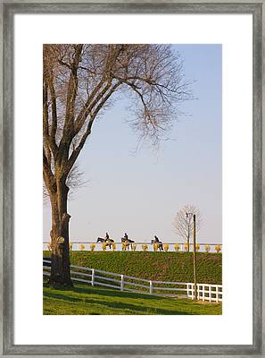 Workout Framed Print by Sid Webb