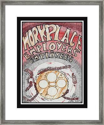 Workplace Framed Print by Jason Girard
