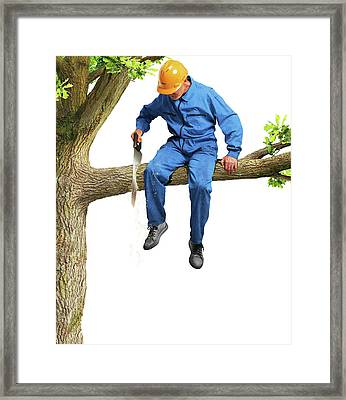 Workplace Safety Framed Print by Smetek
