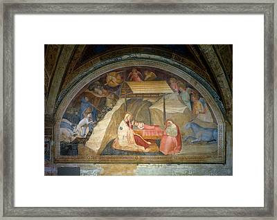 Workshop Andrea Di Cione Detto Framed Print by Everett