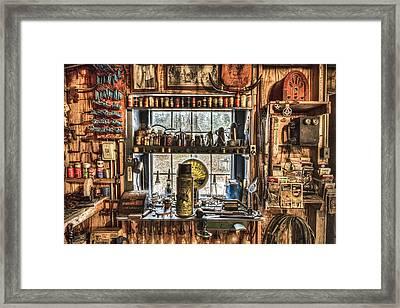 Workshop Framed Print by Debra and Dave Vanderlaan
