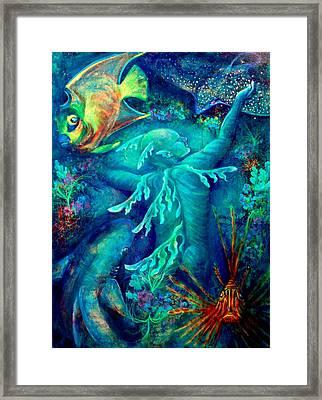 World Framed Print by Ashley Kujan