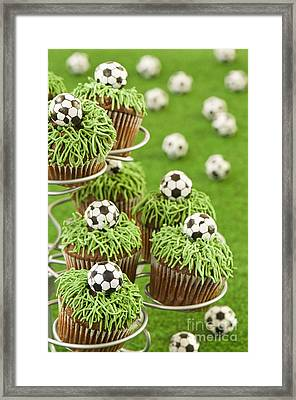 World Cup Cupcakes Framed Print by Amanda And Christopher Elwell