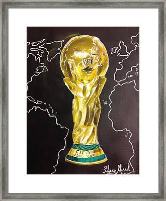 World Cup Trophy Framed Print by Shawn Morrel
