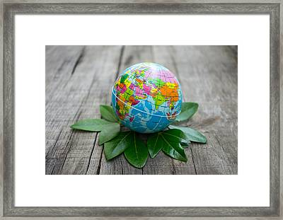 World Environment Concept Framed Print by Aged Pixel