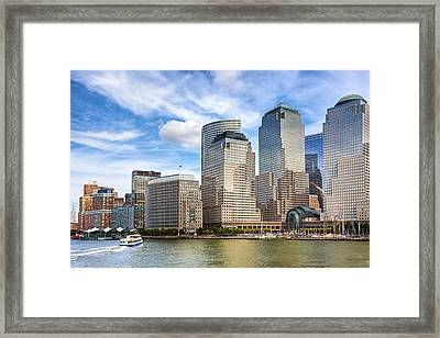 World Financial Center And The Manhattan Waterfront Framed Print by Mark E Tisdale