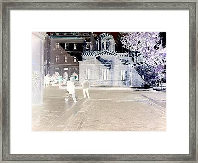 World Is Black Or White Framed Print by Andreea Alecu