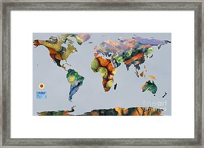 World Map Cezanne 1 Framed Print by John Clark