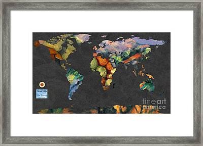 World Map  Cezanne 2 Framed Print by John Clark