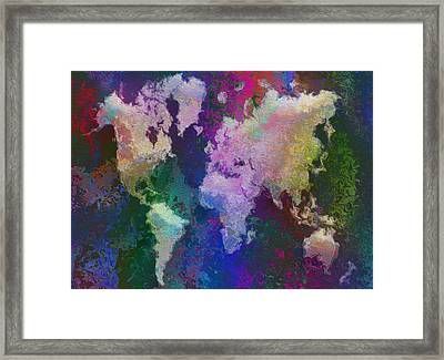 World Map Framed Print by Jack Zulli