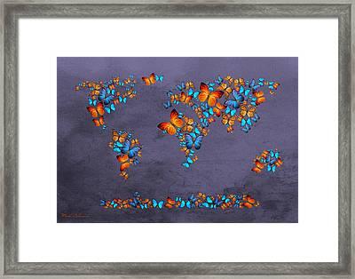 World Map  Framed Print by Mark Ashkenazi