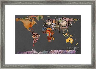 Paul Klee 1  World Map Framed Print by John Clark
