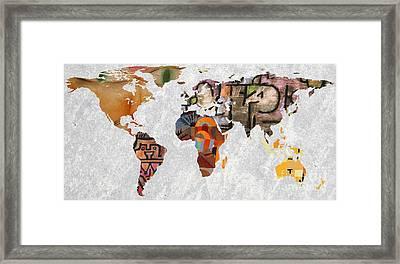 World Map   Paul Klee 3 Framed Print by John Clark