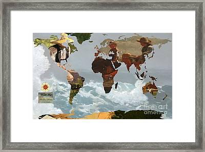 World Map Winslow Homer 1 Framed Print by John Clark