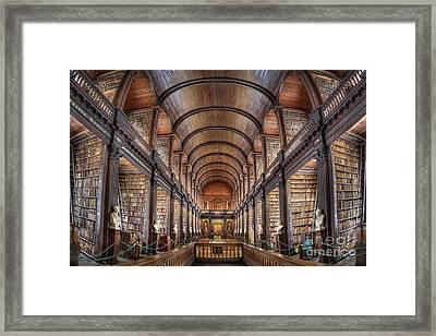 World Of Books Framed Print by Evelina Kremsdorf