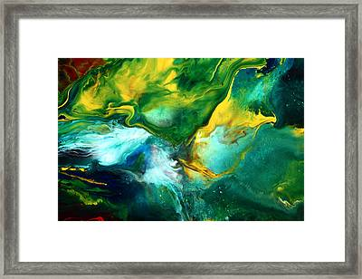 World Of Chaos Translucent Abstract Framed Print by Serg Wiaderny
