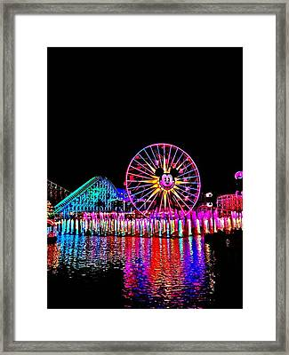 world of color DISNEYLAND Framed Print by Kileen Oberle
