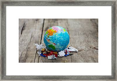 World Pollution Concept Framed Print by Aged Pixel