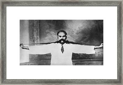 World Record Moustache Framed Print by Underwood Archives